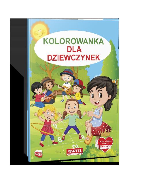 Mockup Seria Niebieska Kolorowanka Dla Dziewczynek - Wydawnictwo MARTEL | Świat Kolorowanek