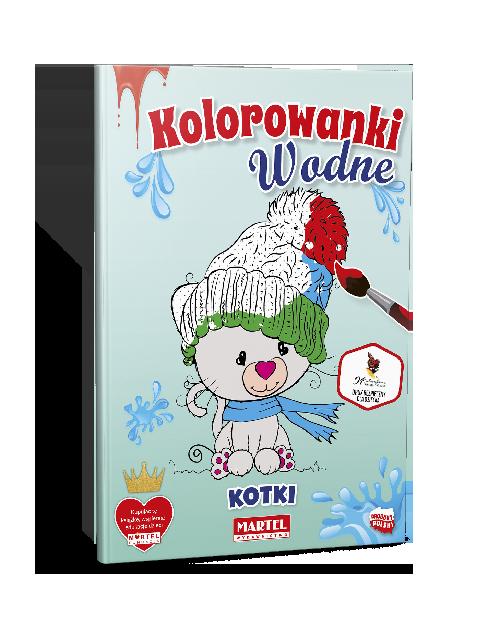 Mockup Kolorowanki WODNE Kotki - Wydawnictwo MARTEL | Świat Kolorowanek