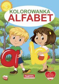 Kolorowanki seria NIEBIESKA | Alfabet - Wydawnictwo MARTEL | Świat Kolorowanek