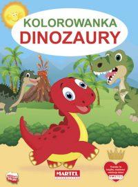 Kolorowanki seria NIEBIESKA | Dinozaury - Wydawnictwo MARTEL | Świat Kolorowanek