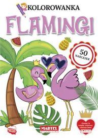 Kolorowanki z naklejkami | FLAMINGI - Wydawnictwo MARTEL | Świat Kolorowanek