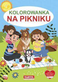 Kolorowanki seria NIEBIESKA | Na pikniku - Wydawnictwo MARTEL | Świat Kolorowanek