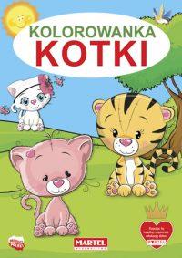 Kolorowanki seria NIEBIESKA | Kotki - Wydawnictwo MARTEL | Świat Kolorowanek