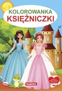 Kolorowanki seria NIEBIESKA | Księżniczki - Wydawnictwo MARTEL | Świat Kolorowanek