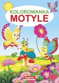 Kolorowanki seria NIEBIESKA | Motyle - Wydawnictwo MARTEL | Świat Kolorowanek