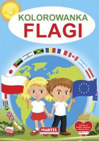 Kolorowanki seria NIEBIESKA | Flagi - Wydawnictwo MARTEL | Świat Kolorowanek