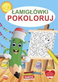 Kolorowanki seria NIEBIESKA | Łamigłówki Pokoloruj - Wydawnictwo MARTEL | Świat Kolorowanek
