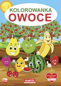 Kolorowanki seria NIEBIESKA | Owoce - Wydawnictwo MARTEL | Świat Kolorowanek