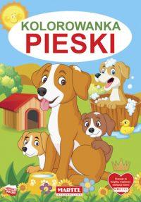 Kolorowanki seria NIEBIESKA | Pieski - Wydawnictwo MARTEL | Świat Kolorowanek