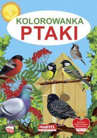 Kolorowanki seria NIEBIESKA | Ptaki - Wydawnictwo MARTEL | Świat Kolorowanek