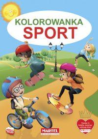 Kolorowanki seria NIEBIESKA | Sport - Wydawnictwo MARTEL | Świat Kolorowanek