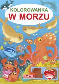 Kolorowanki seria NIEBIESKA | W morzu - Wydawnictwo MARTEL | Świat Kolorowanek