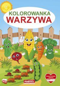 Kolorowanki seria NIEBIESKA | Warzywa - Wydawnictwo MARTEL | Świat Kolorowanek