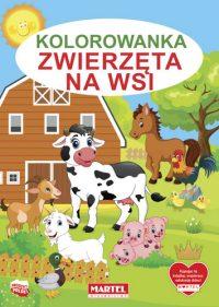 Kolorowanki seria NIEBIESKA | Zwierzęta na wsi - Wydawnictwo MARTEL | Świat Kolorowanek