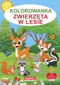 Kolorowanki seria NIEBIESKA | Zwierzęta w lesie - Wydawnictwo MARTEL | Świat Kolorowanek