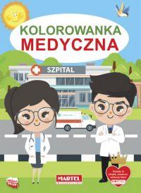Kolorowanki seria NIEBIESKA | Medyczna - Wydawnictwo MARTEL | Świat Kolorowanek