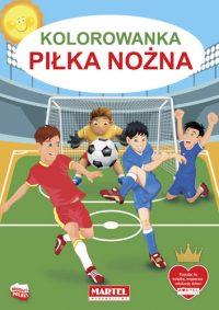 Kolorowanki seria NIEBIESKA | Piłka Nożna - Wydawnictwo MARTEL | Świat Kolorowanek