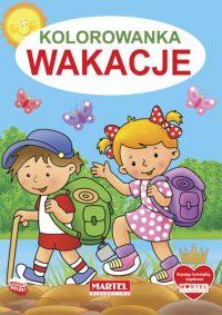 Kolorowanki seria NIEBIESKA | Wakacje - Wydawnictwo MARTEL | Świat Kolorowanek