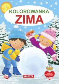 Kolorowanki seria NIEBIESKA | Zima - Wydawnictwo MARTEL | Świat Kolorowanek