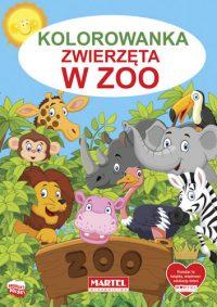 Kolorowanki seria NIEBIESKA | Zwierzęta w zoo - Wydawnictwo MARTEL | Świat Kolorowanek